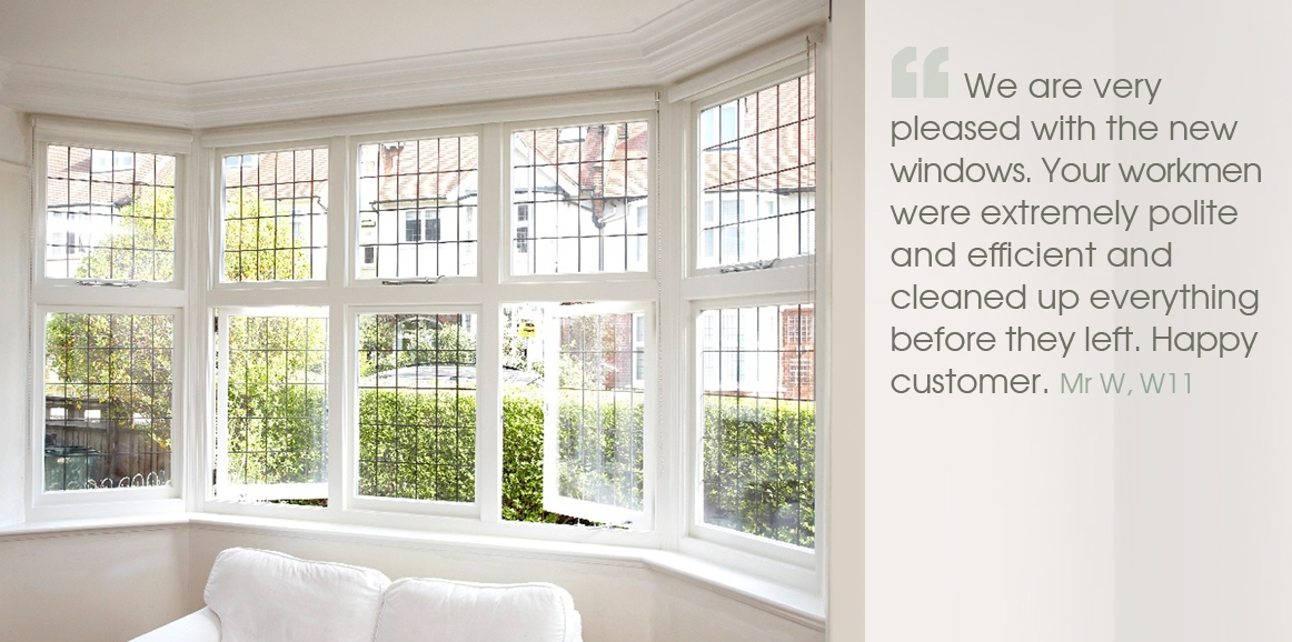 We are very pleased with the new windows. Your workmen were extremely polite and efficient and cleaned up everything before they left. Happy customer.